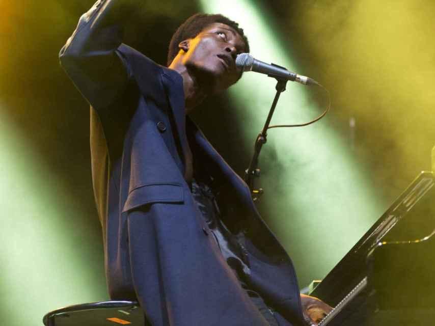 Benjamin Clementine, en el festival de música Rock en Seine, cerca de París.