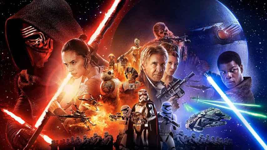 El cartel de Star wars: El despertar de la fuerza.