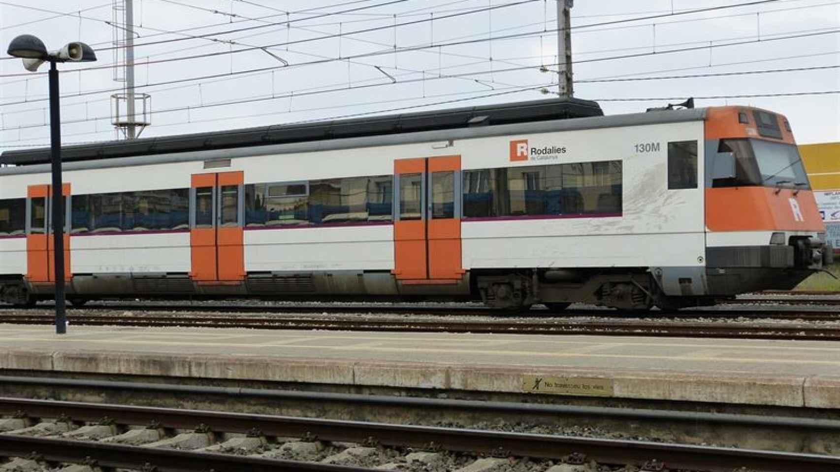 Imagen de un tren de Rodalies, los cercanías catalanes.