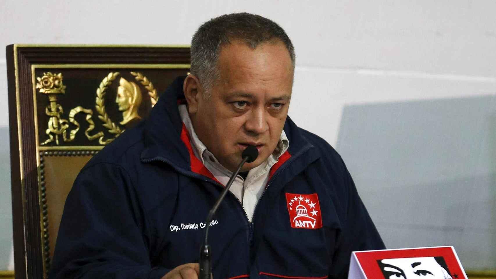 Diosdado Cabello habla en la Asamblea Nacional el pasado 10 de diciembre 2015.