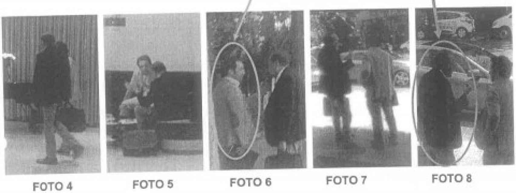 Imágenes de los abogados en los informes policiales.
