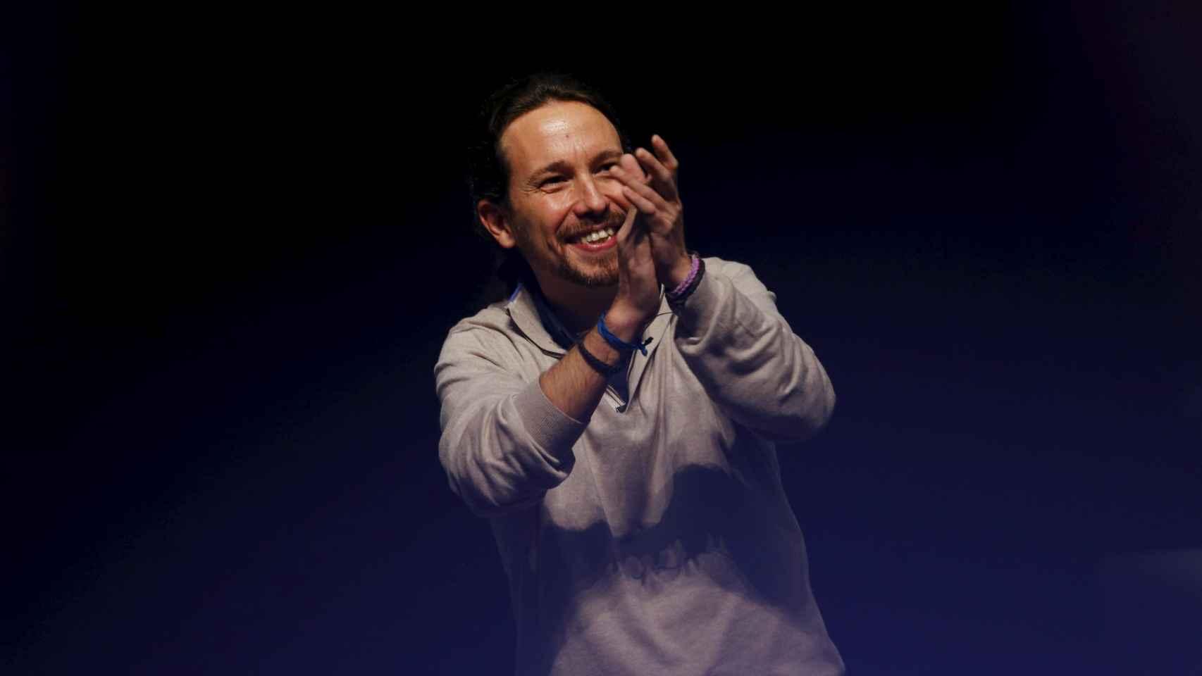 El líder de Podemos este jueves en Sevilla. Marcelo del Pozo/Reuters