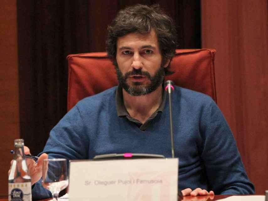 Oleguer Pujol durante la Comisión de Investigación del Parlament