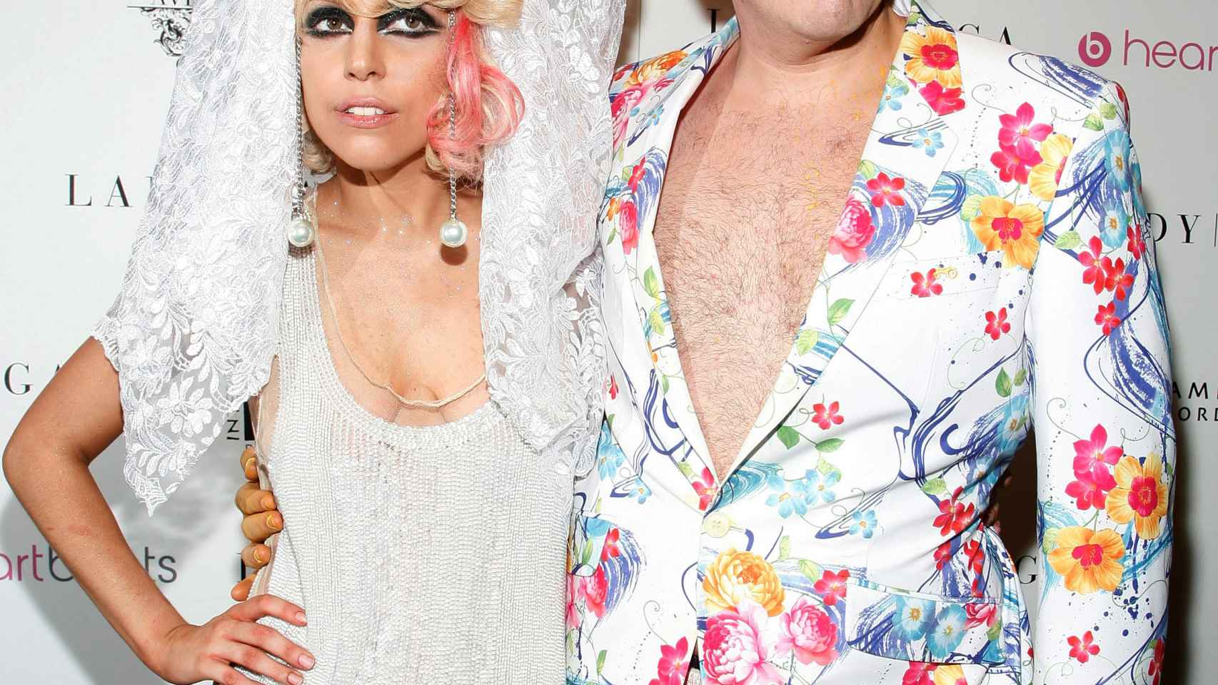 Lady Gaga junto a Pérez Hilton antes del acoso