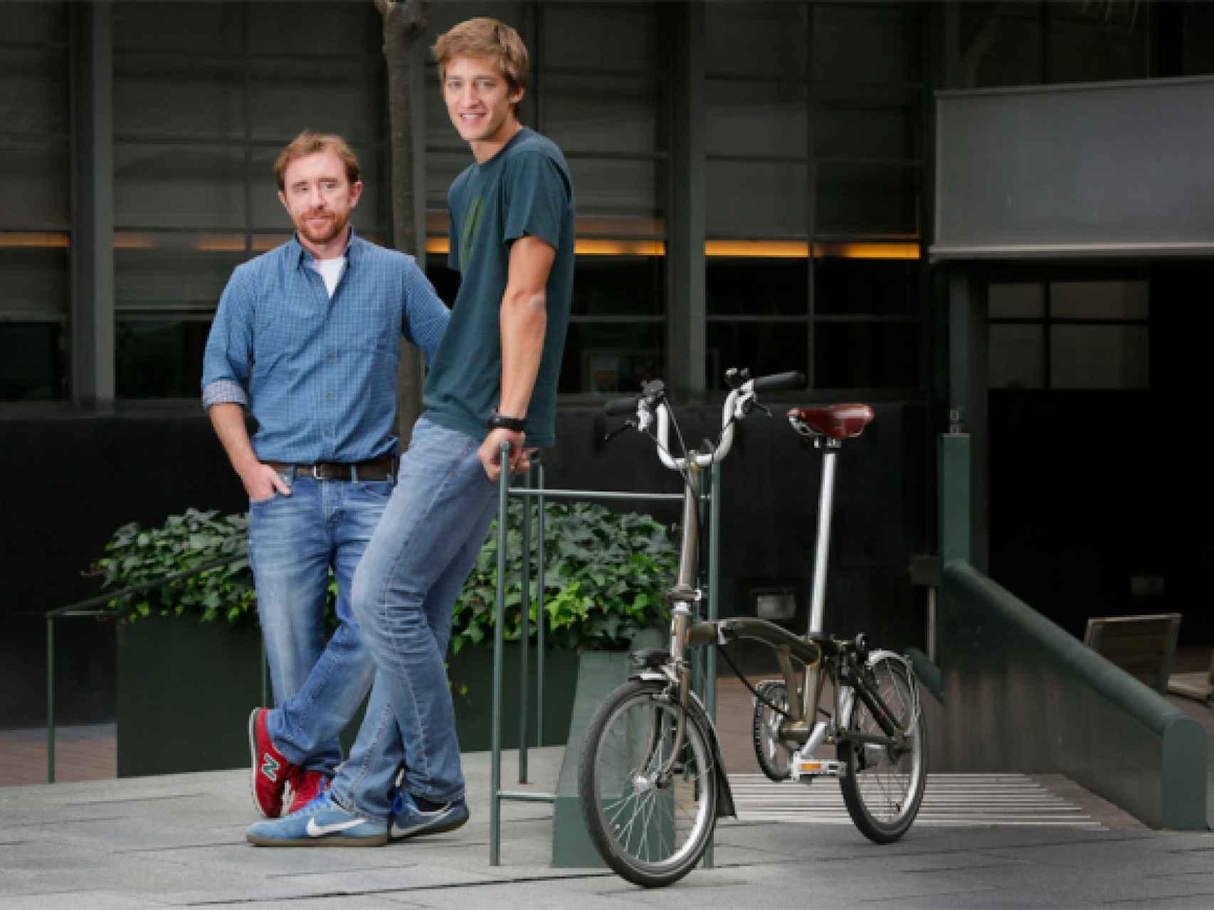 Sacha Michaud y Oscar Pierre, cofundadores de Glovo.
