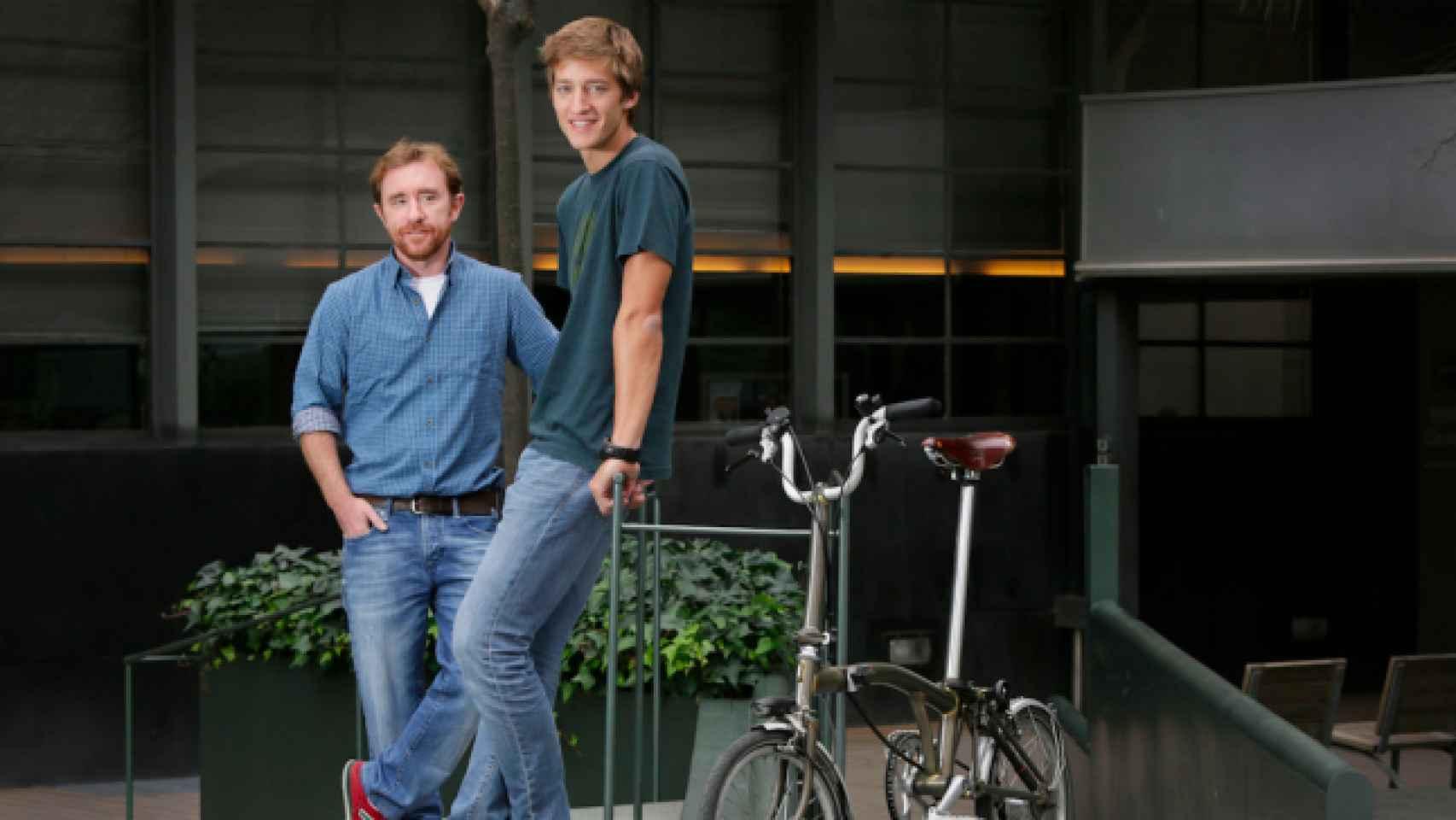 Los dos fundadores de la 'startup' Glovo.