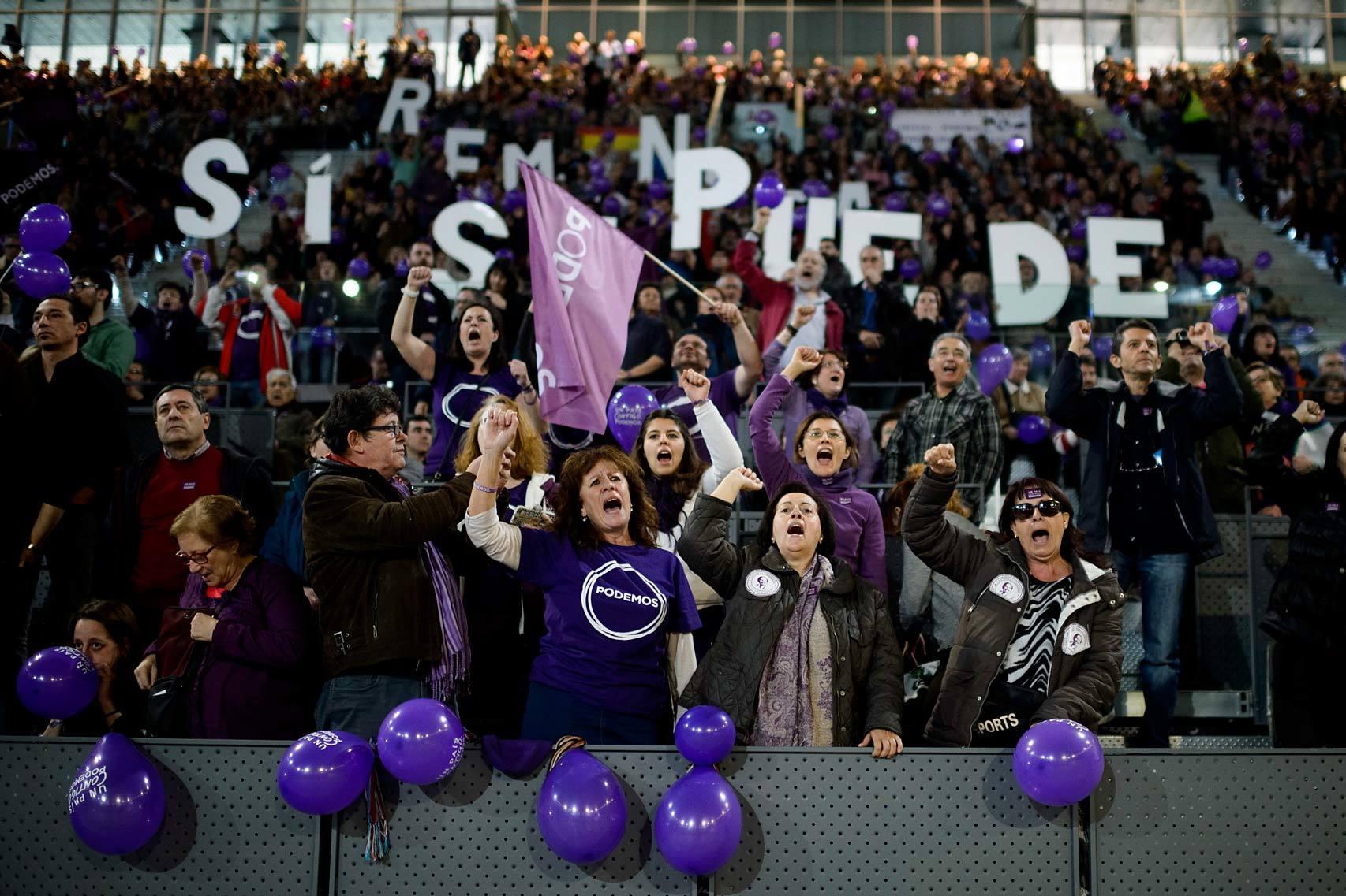 El lema de Podemos uq