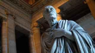 Busto de Marco Tulio Cicerón en el Palacio de Justicia de Bruselas