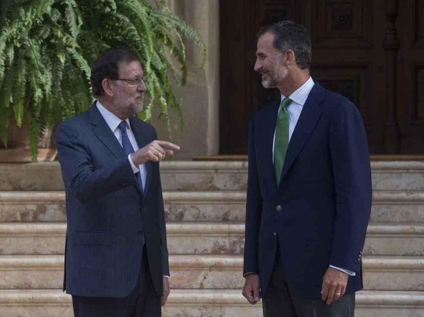Rajoy, con Felipe VI.
