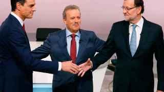 Sánchez y Rajoy, al inicio del debate.