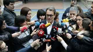 Artur Mas este domingo electoral.