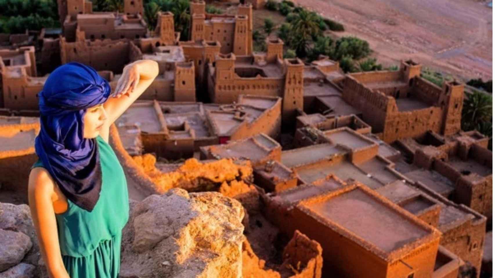 Melanie Martins hace unas semanas en Ouarzazate (Morocco)