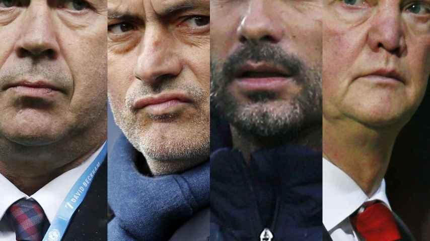 Ancelotti, Mourinho, Guardiola y Van Gaal.