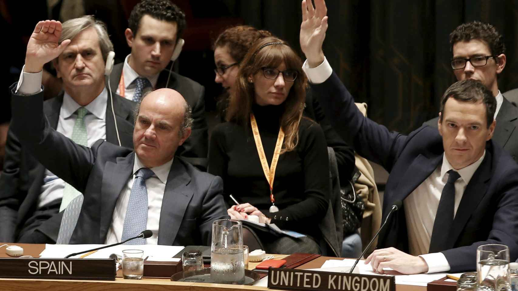 Luis de Guindos, en una reciente cumbre en la Onu