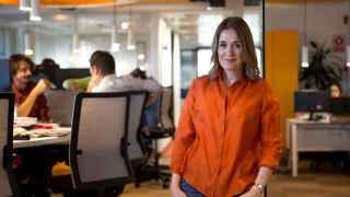 Marta Rivera de la Cruz en la redacción de El Español
