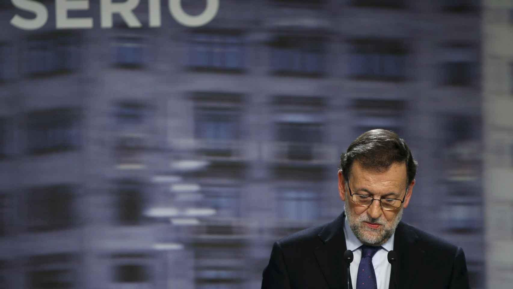 Rajoy comparece en una rueda de prensa el día posterior a las elecciones.