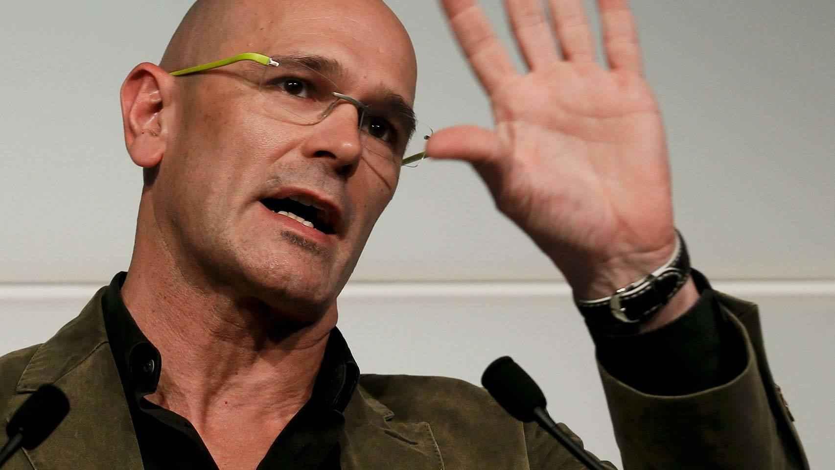 El número 1 de Junt pel Si, Raul Romeva, durante una rueda de prensa.