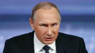 Vladimir Putin durante su rueda de prensa de final de año la pasada semana