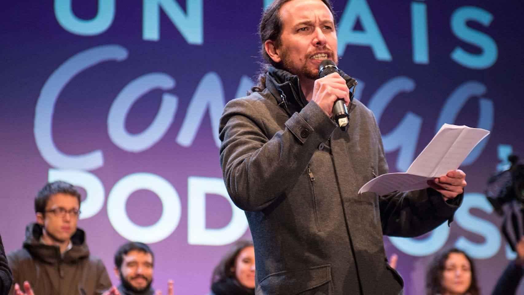 El líder de Podemos no pierde ocasión para atacar a Sánchez.