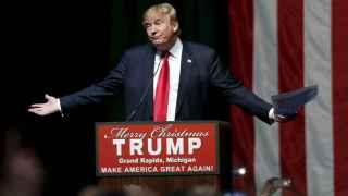 El candidato a las primarias republicanas Donald Trump.