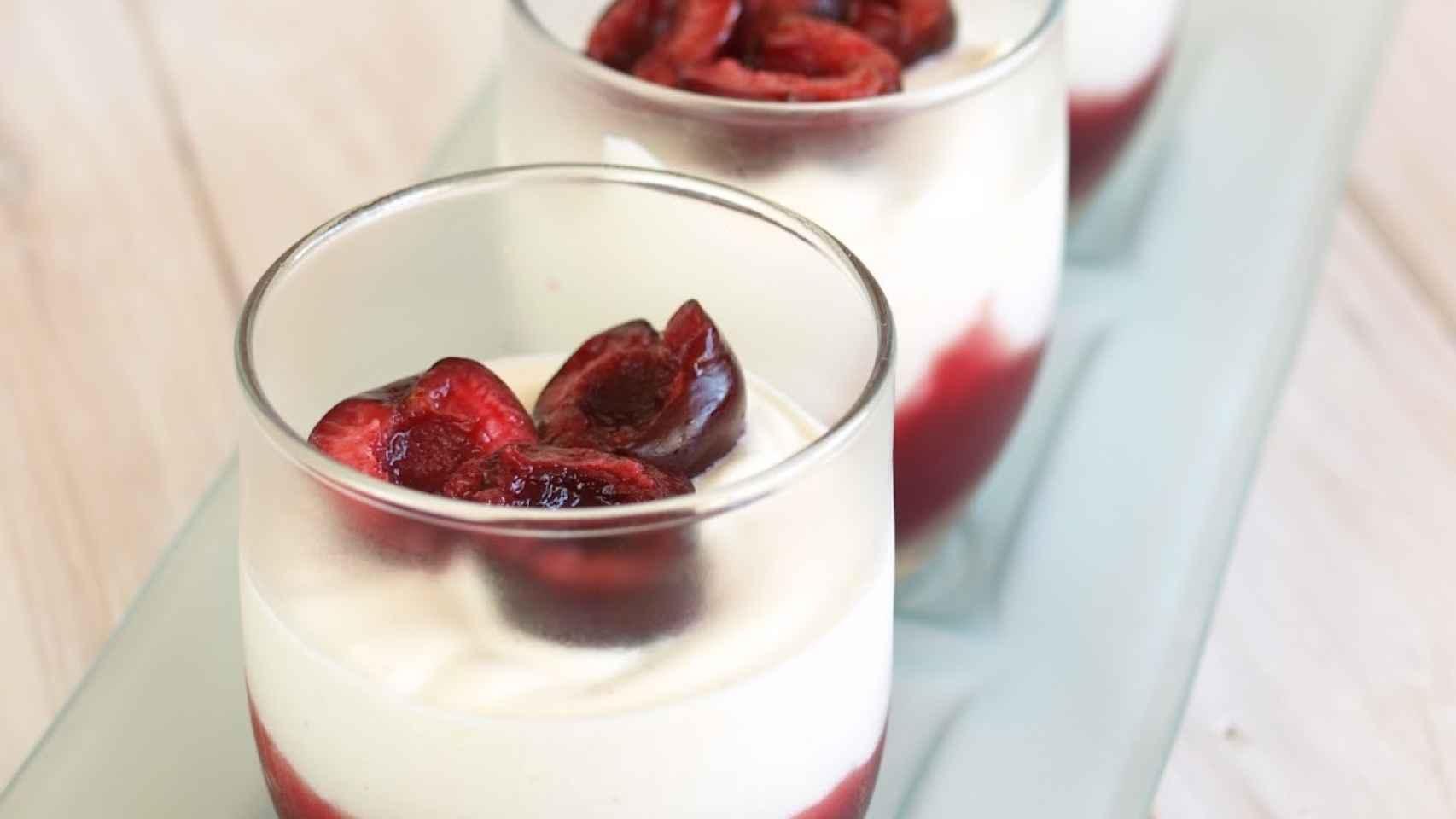 Yogurt con frutos rojos de Ana Milán