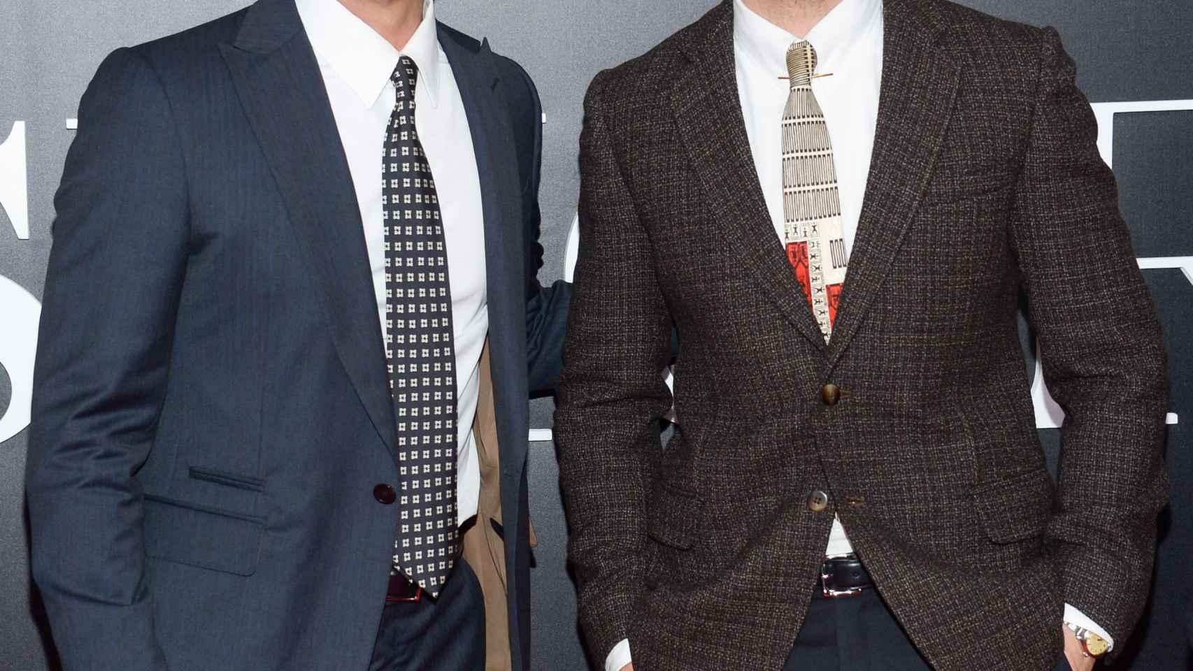 Brad Pitt y Ryan Gosling en el estreno de The Big Short