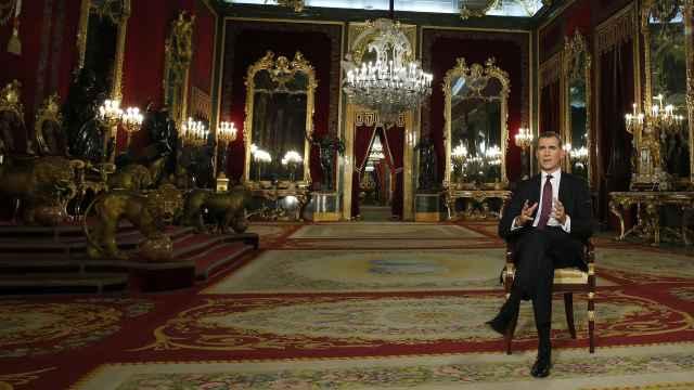 El rey durante su discurso del jueves.