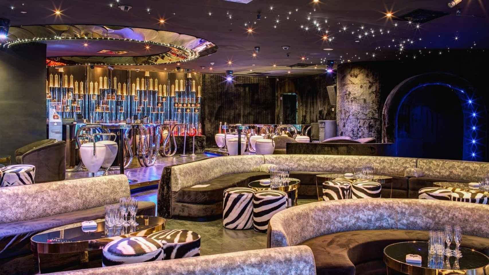Imagen de una de las salas del lujoso Cavalli Club de Dubai