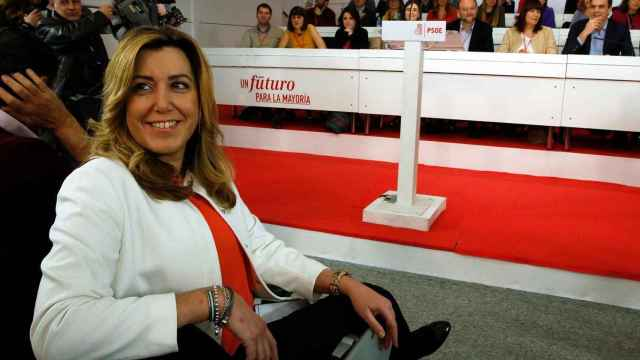 Susana Díaz, al inicio del comité federal del PSOE.