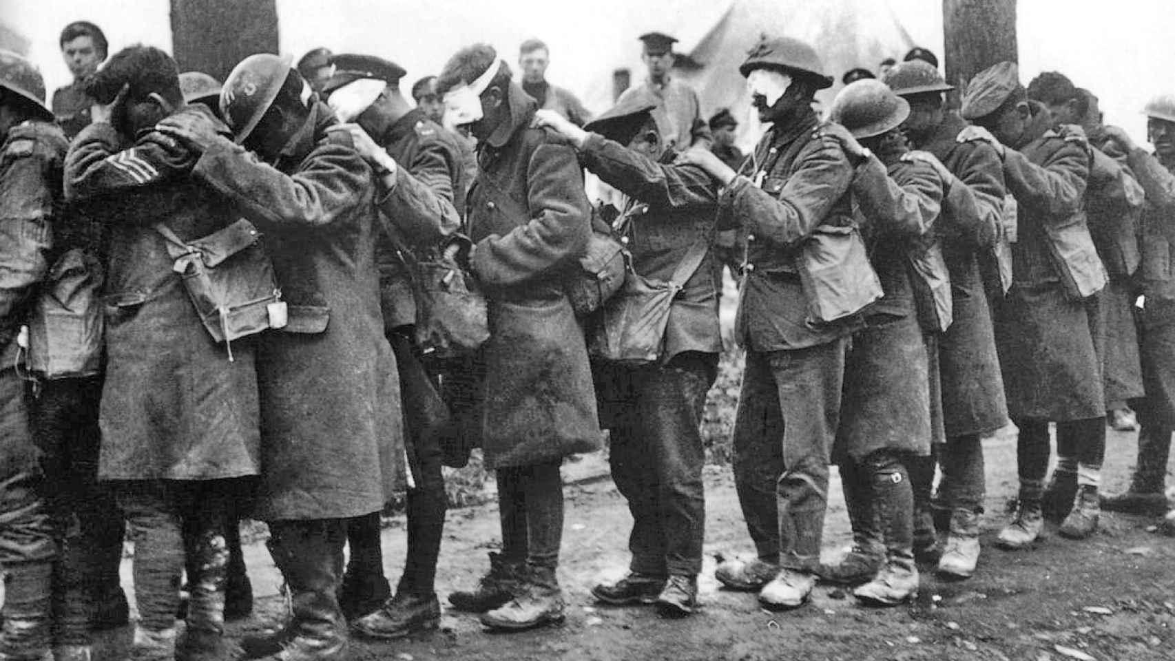 Bajas en la División 55 del Ejército británico en abril de 1918.