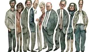 Ilustración sobre los distintos miembros de la familia Pujol.