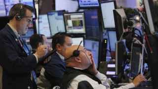 Brokers en la bolsa de Nueva York