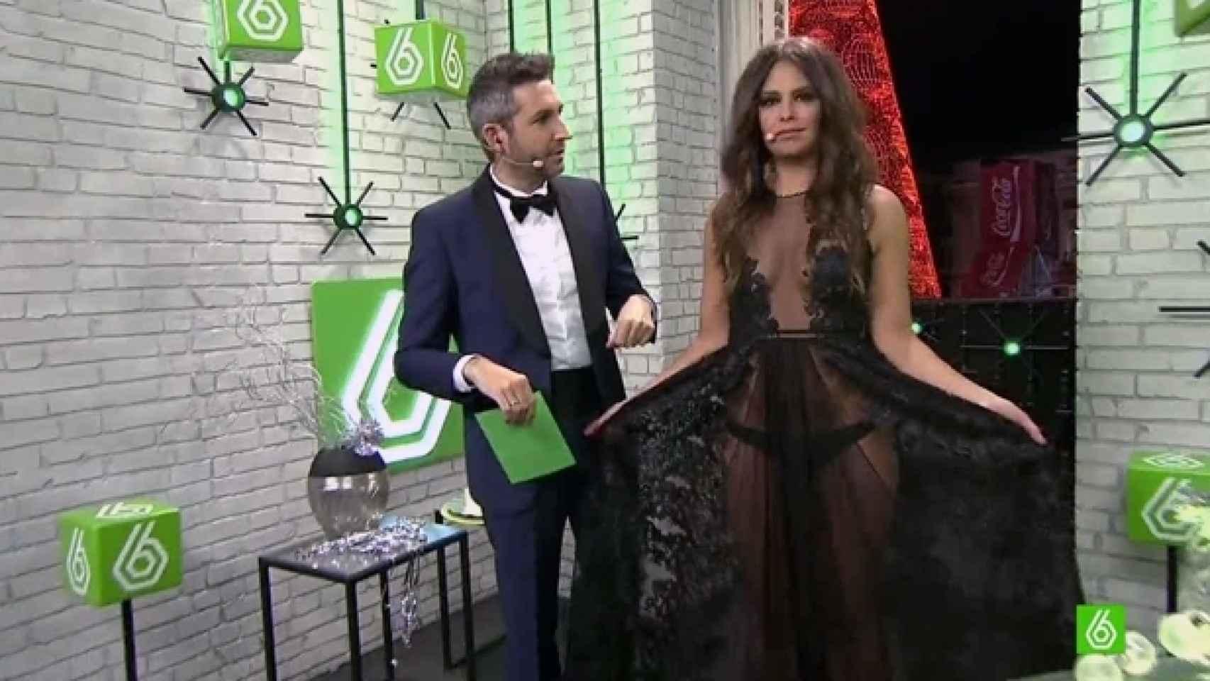 Pedroche con su polémico vestido de las Campanadas 2015