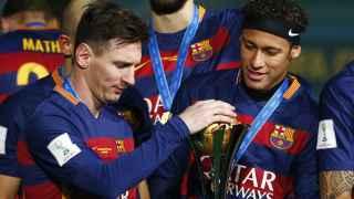 Messi y Neymar en el Mundialito de clubes.
