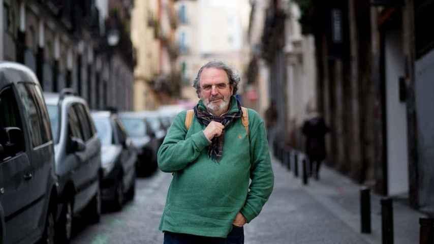 Jon Juaristi en el barrio de las letras de Madrid