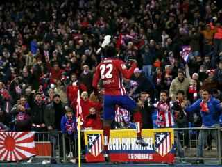 Thomas celebra su gol ante el Levante.