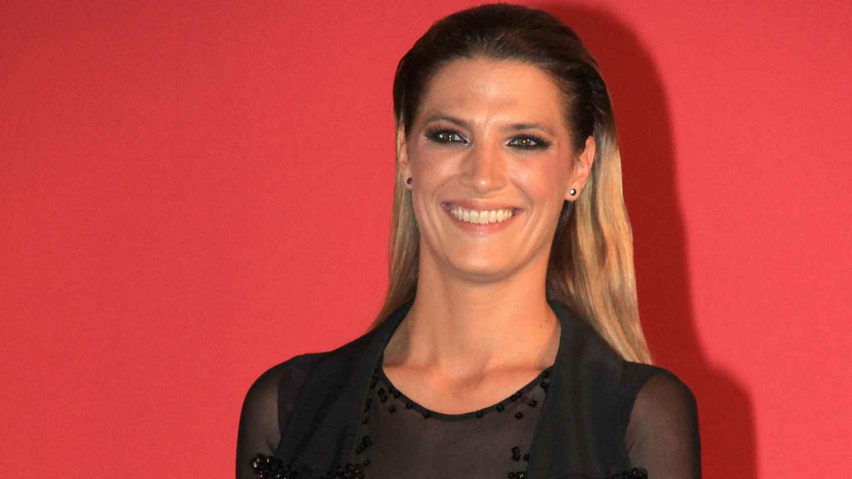 Laura Sánchez con vestido transparente en los Premios Escaparate de Sevilla