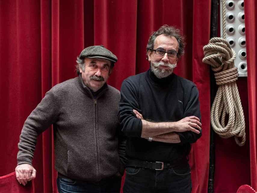 Paco de la Zaranda (izda.) y Eusebio Calonge, en el Teatro Español