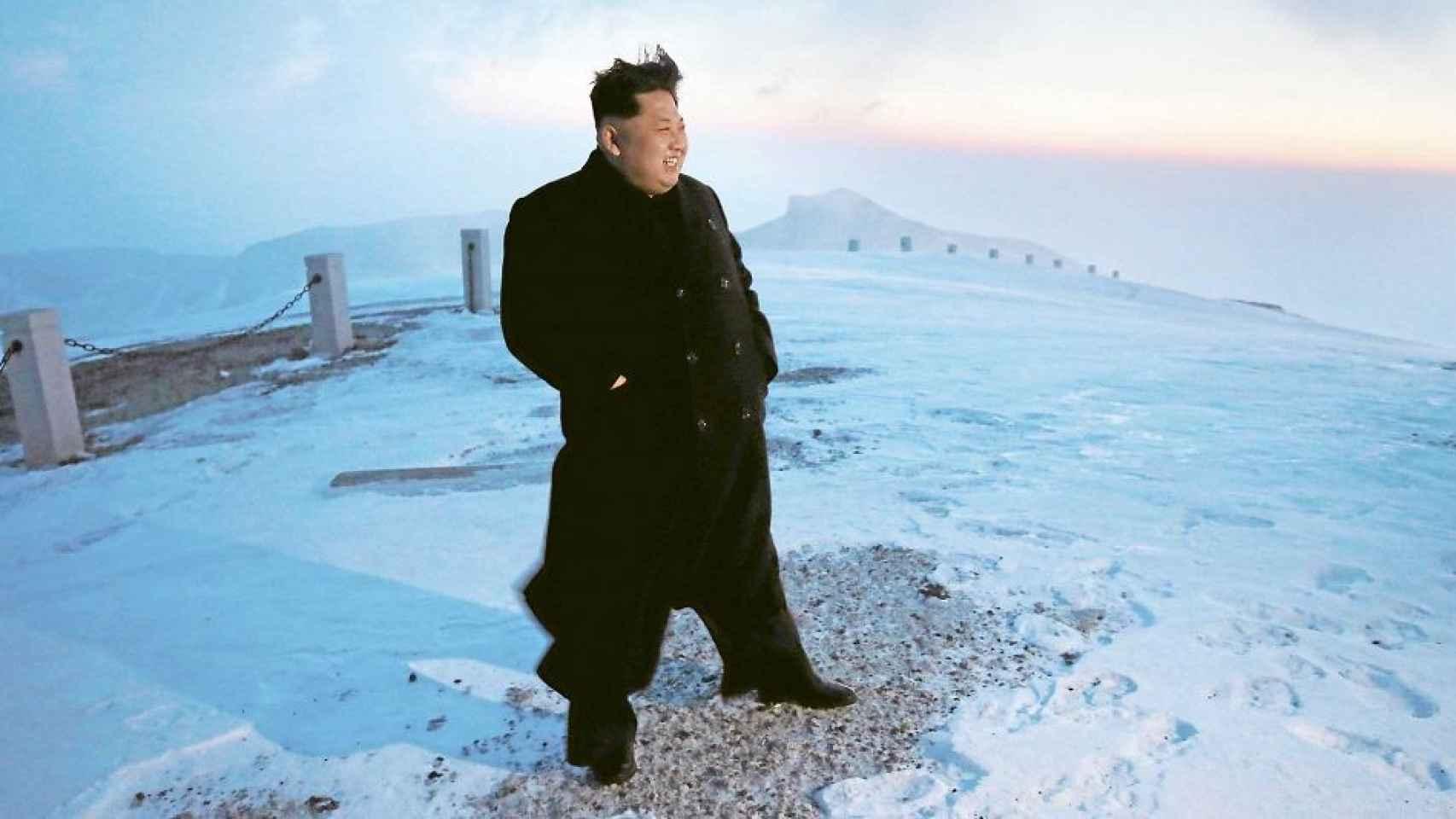 Kim Jong-Un, en la cima del Paektu