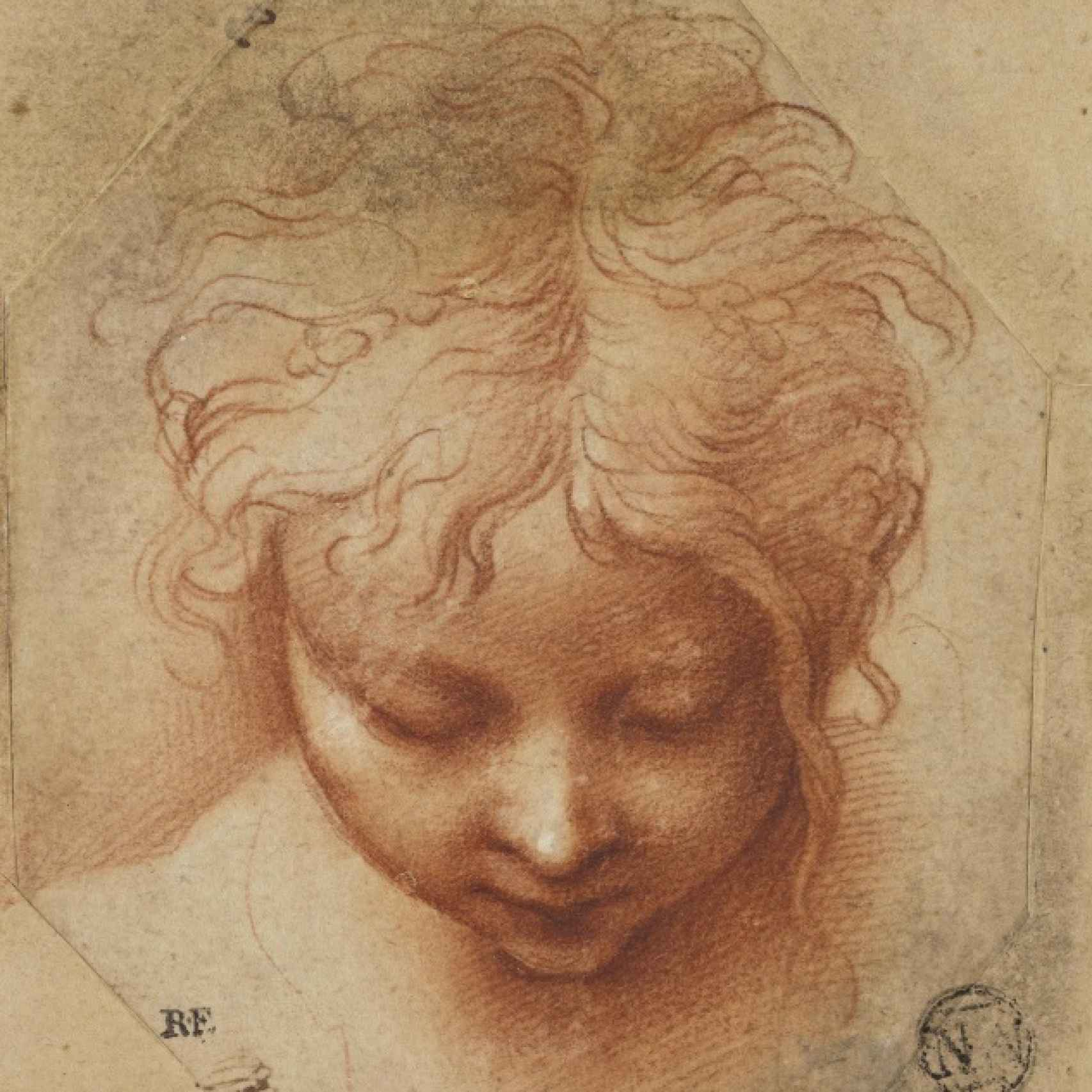 Cabeza de un niño, de Parmigianino