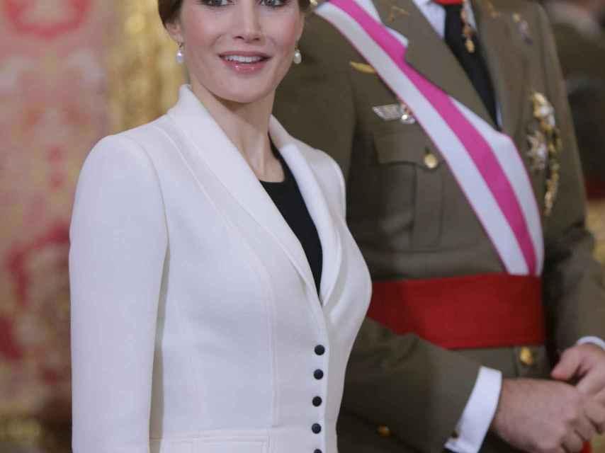Los Reyes sonríen a cámara en la Pascua Militar de 2016