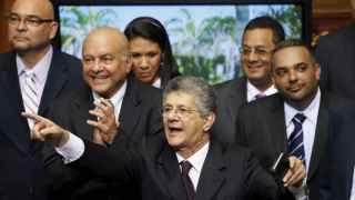 El diputado opositor Henry Ramos Allup, nuevo presidente de la Asamblea Nacional.