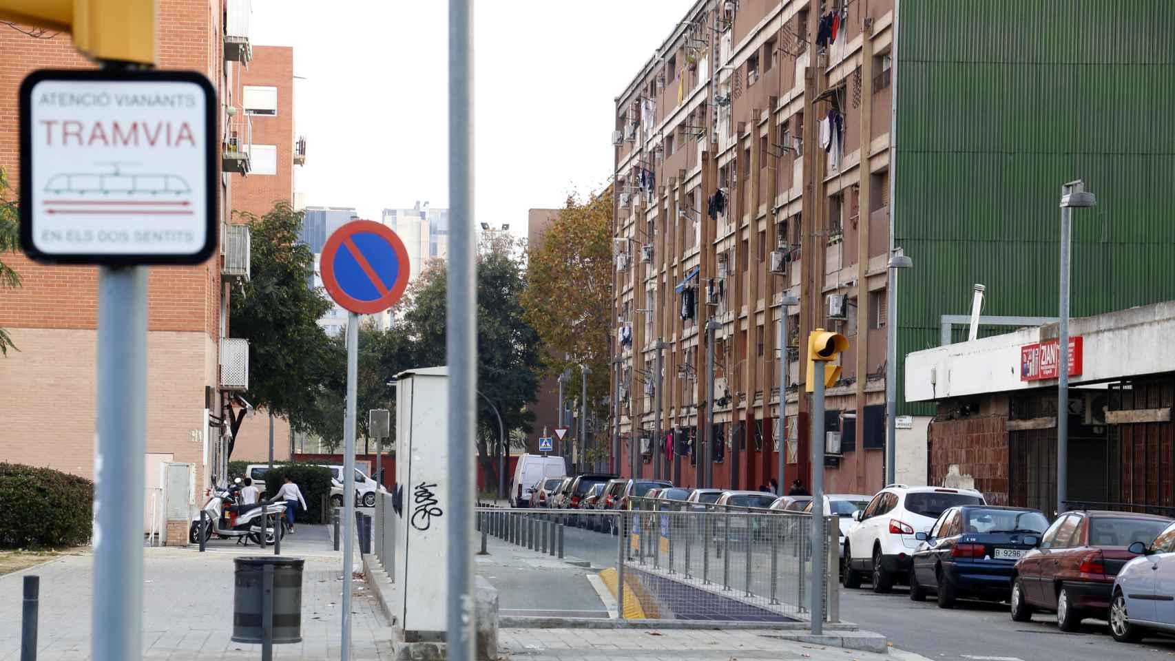 Una calle del barrio de Besòs