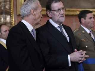 Mariano Rajoy junto con el ministro de Defensa, Pedro Morenés.