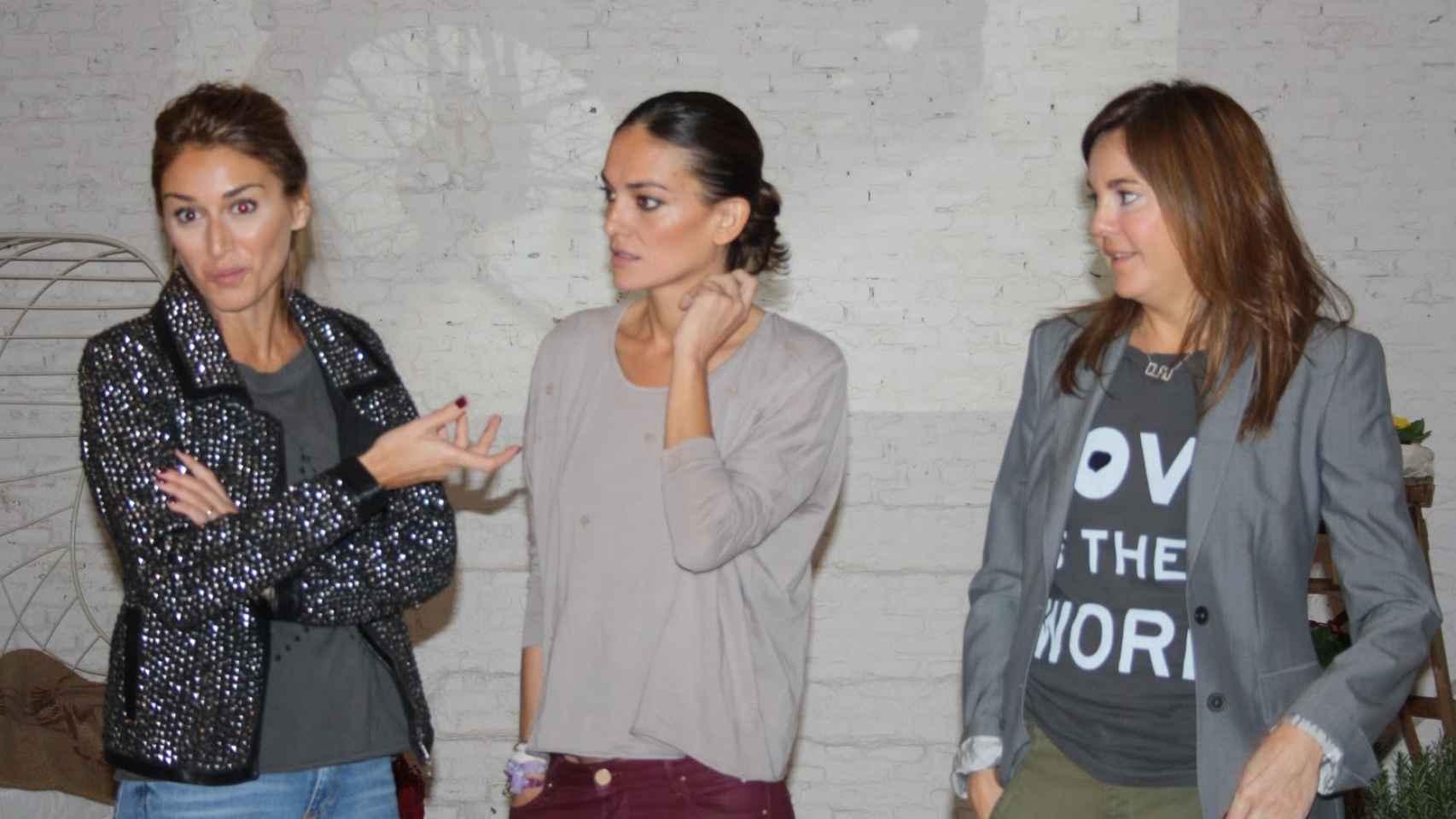 Claudia Fabra, Laura Ponte y su socia Claudia Hernández en la presentación de Hip Tee