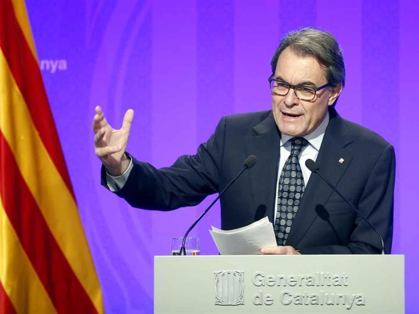 El presidente de la Generalitat en funciones/EFE/Andreu Dalmau