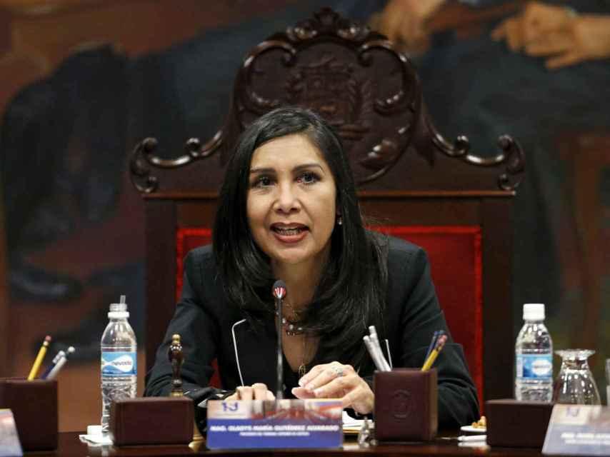 La presidenta del Tribunal Supremo de Justicia Gladys Gutierrez.
