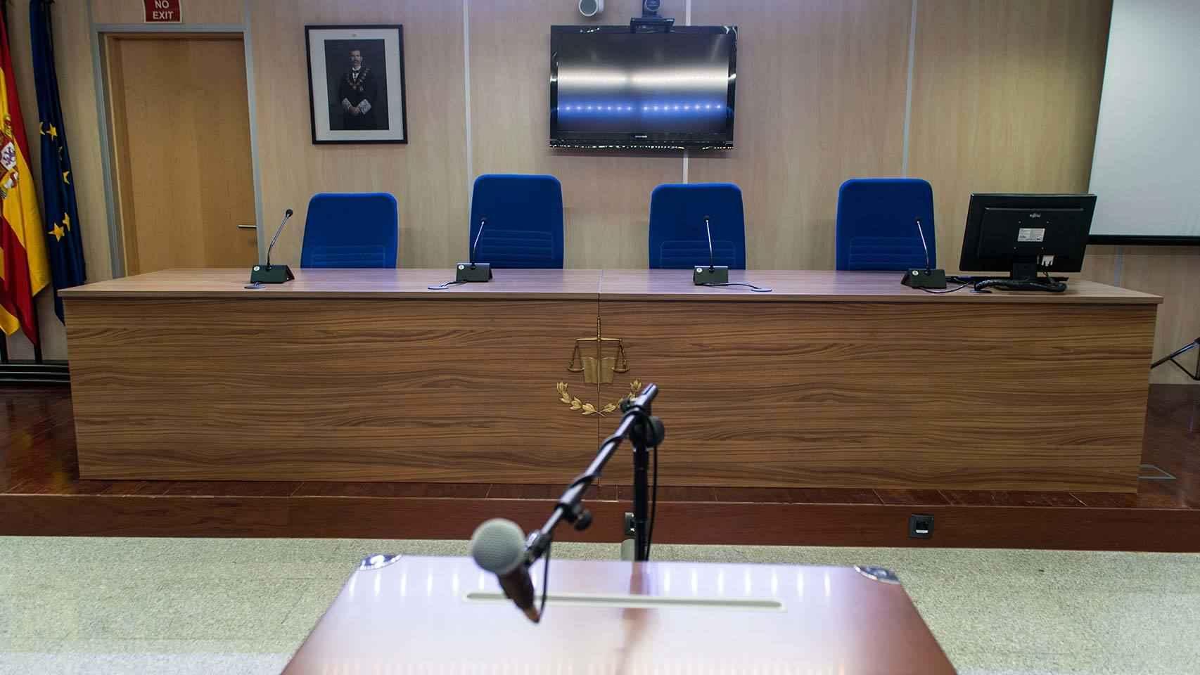 Sala donde se va a celebrar el juicio por el 'caso Noos'