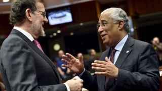 Mariano Rajoy y Antonio Costa durante una reunión en Bruselas en diciembre.