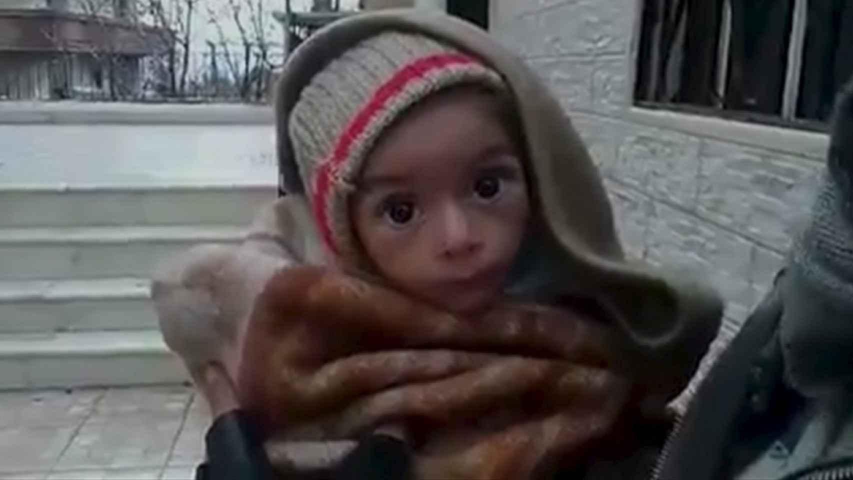 Un pequeño en un vídeo tomado supuestamente el 5 de enero en Madaya.